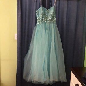 Prom dress  strapless with sequence top